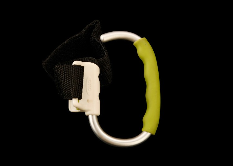 Side view of the carabiner.